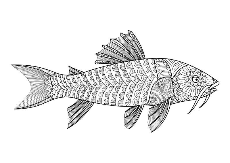 zentangle a stylis du poisson chat blind pour livre de. Black Bedroom Furniture Sets. Home Design Ideas