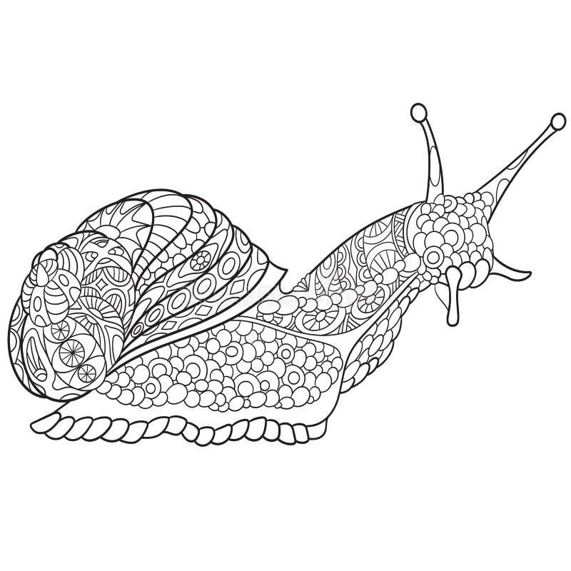 Zentangle a stylisé l'escargot illustration libre de droits