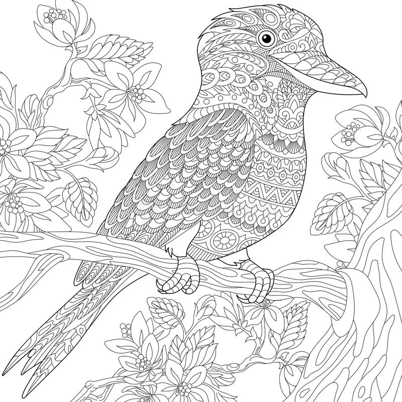 Zentangle a stylisé l'oiseau de martin-chasseur illustration libre de droits