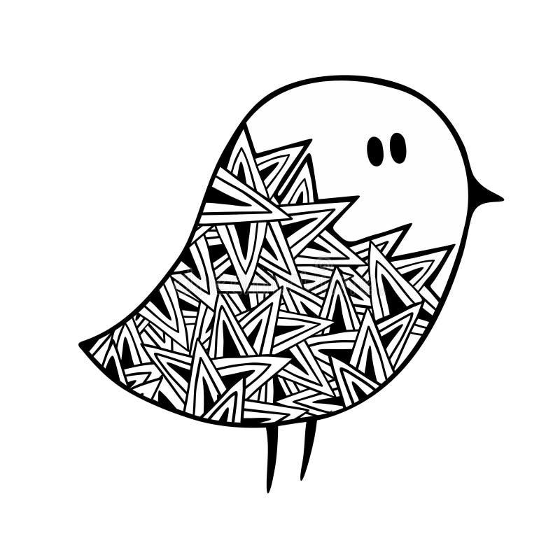 Zentangle a stylisé le pigeon illustration libre de droits
