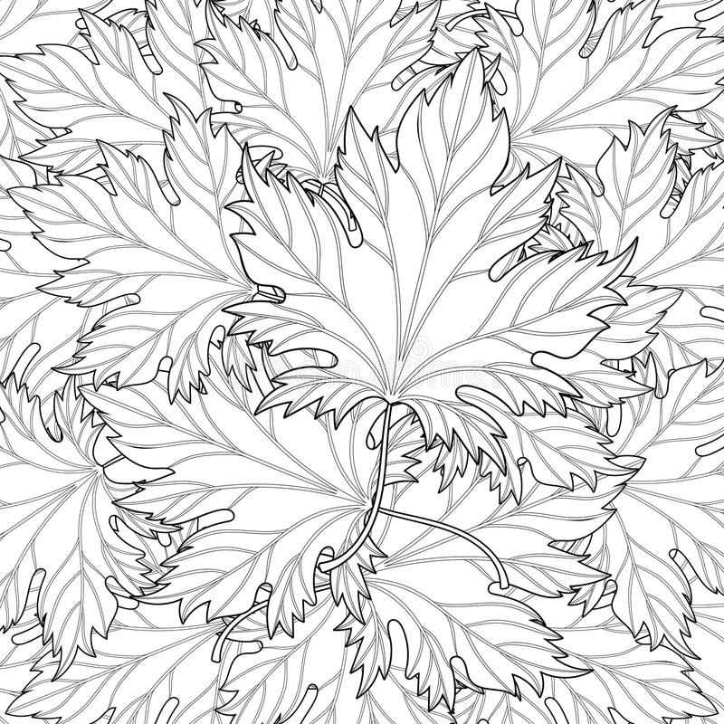 fall zentangle coloring pages | Zentangle Stylized Autumn Fall Leaves Background For ...