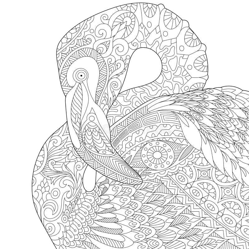 Free Zentangle Stylized Flamingo Royalty Free Stock Photo - 76792635