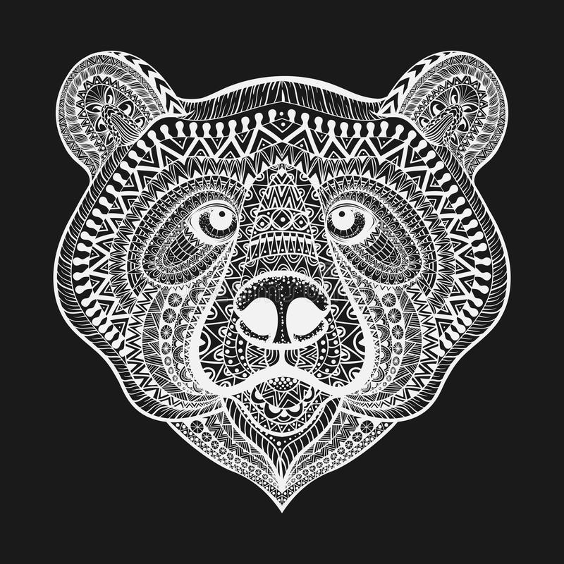 Free Zentangle Stylized White Bear Face. Hand Drawn Doodle Vector Ill Stock Photo - 58757550