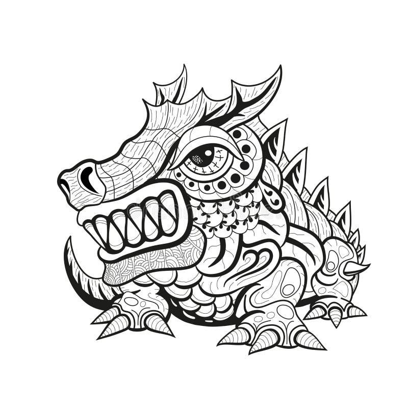 Tattoo flash dragon tribal dragon fly