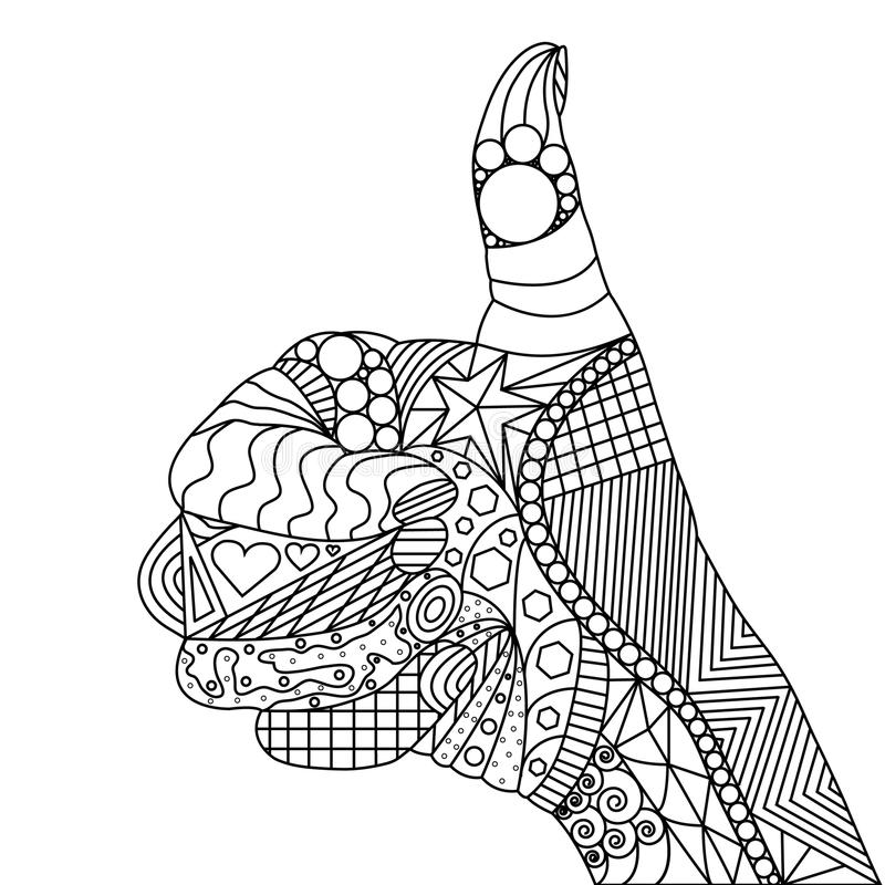 Zentangle tummar upp vektor illustrationer