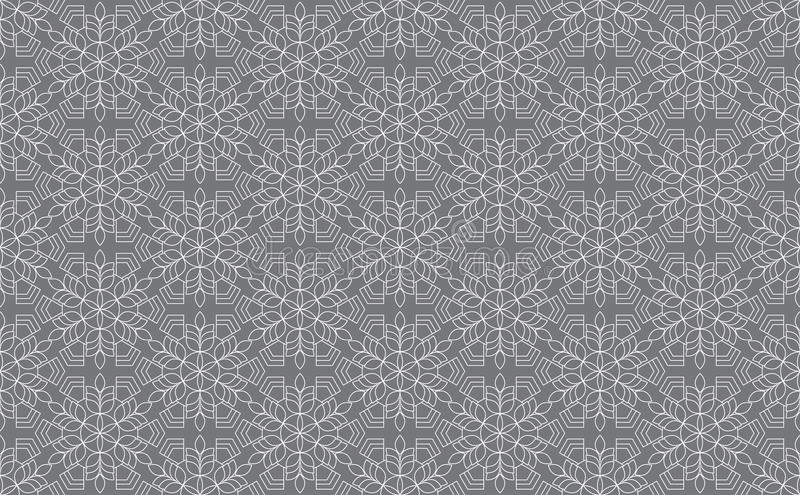 Zentangle utformade den geometriska prydnadmodellbeståndsdelen Orient traditionell prydnad Boho utformade stock illustrationer