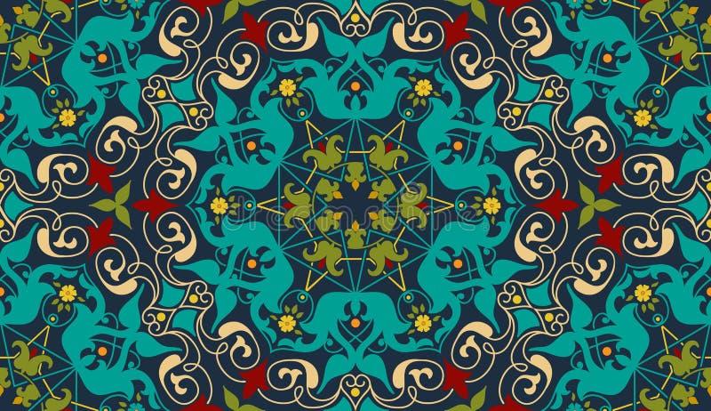 Zentangle utformade den geometriska prydnadmodellbeståndsdelen Orient traditionell prydnad Boho utformade abstrakt geometriskt stock illustrationer
