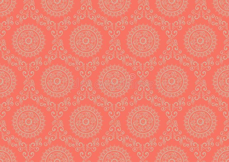 Zentangle utformade geometrisk prydnadmodellbakgrund Orient traditionell prydnad Boho utformade stock illustrationer