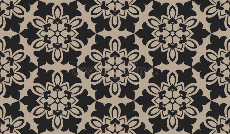 Zentangle utformade geometrisk prydnadmodellbakgrund Orient traditionell prydnad Boho utformade royaltyfri illustrationer