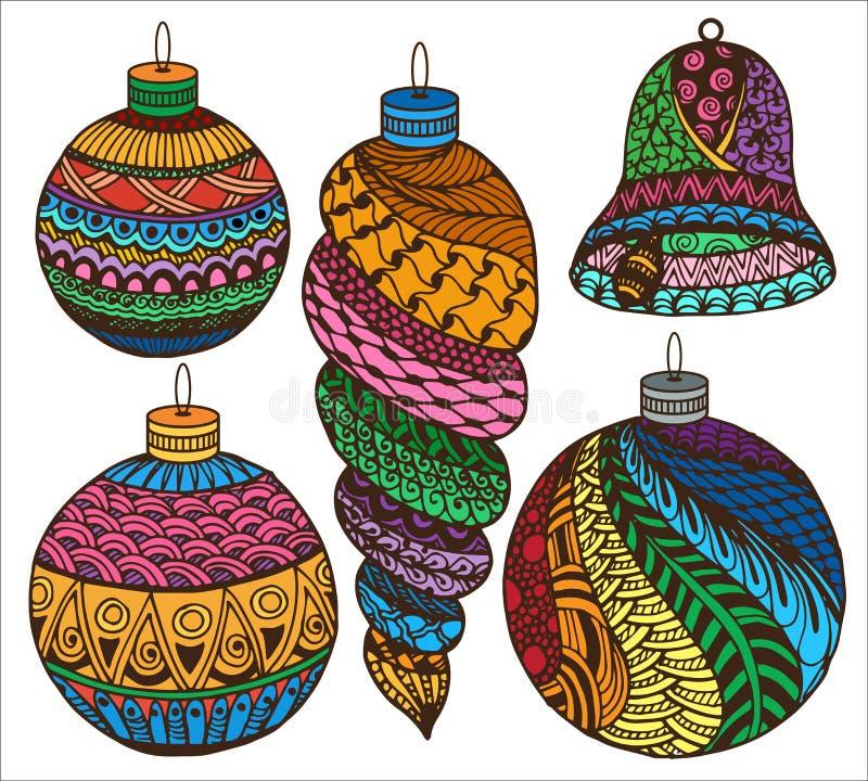 Zentangle-Weihnachtssammlung lizenzfreie stockfotografie