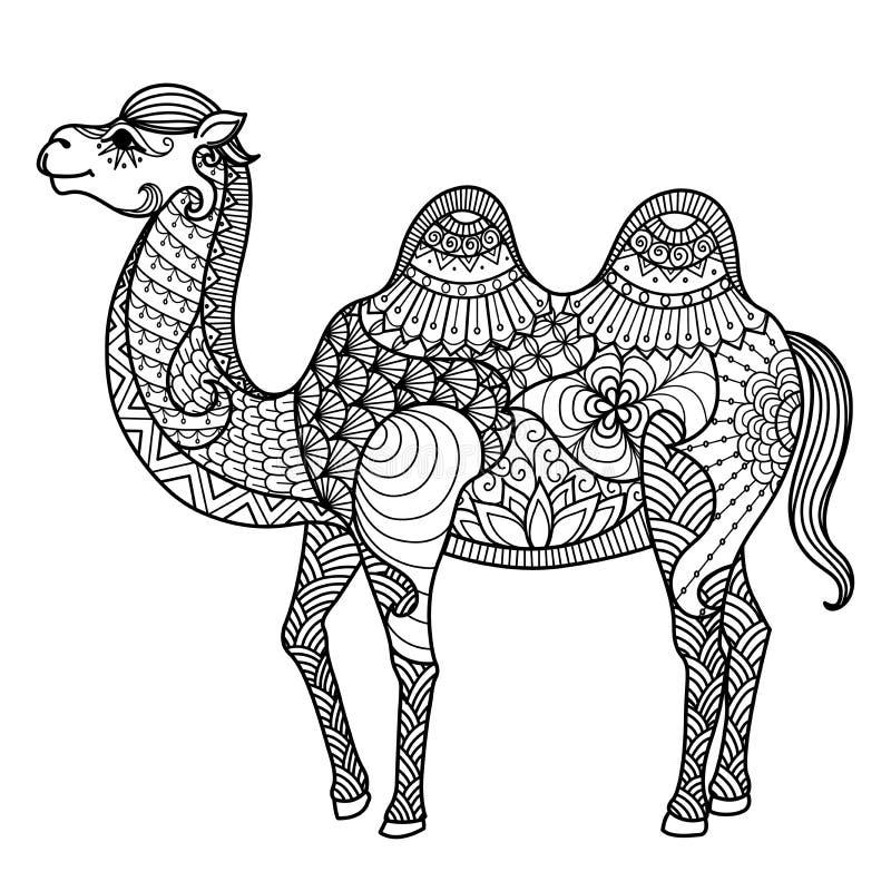 Zentangle wielbłąd royalty ilustracja