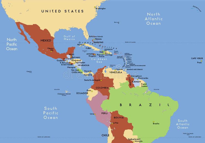 Zentralamerika. vektor abbildung