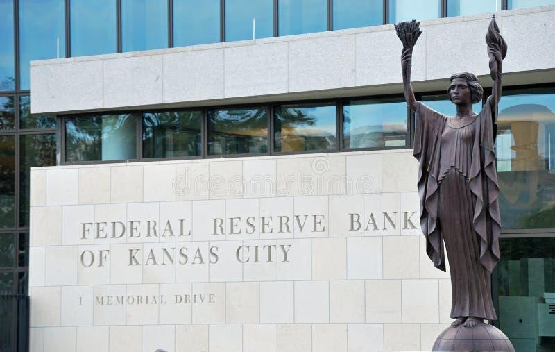 Zentralbank-Querneigung von Kansas City stockfotografie