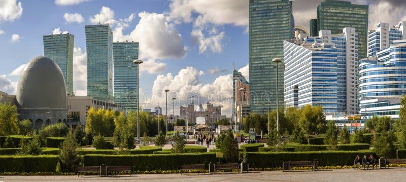 Zentrale bulval in Astana stockbilder