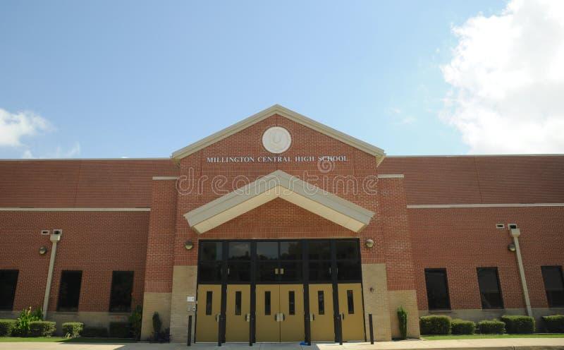 Zentrale Highschool Millington stockfoto