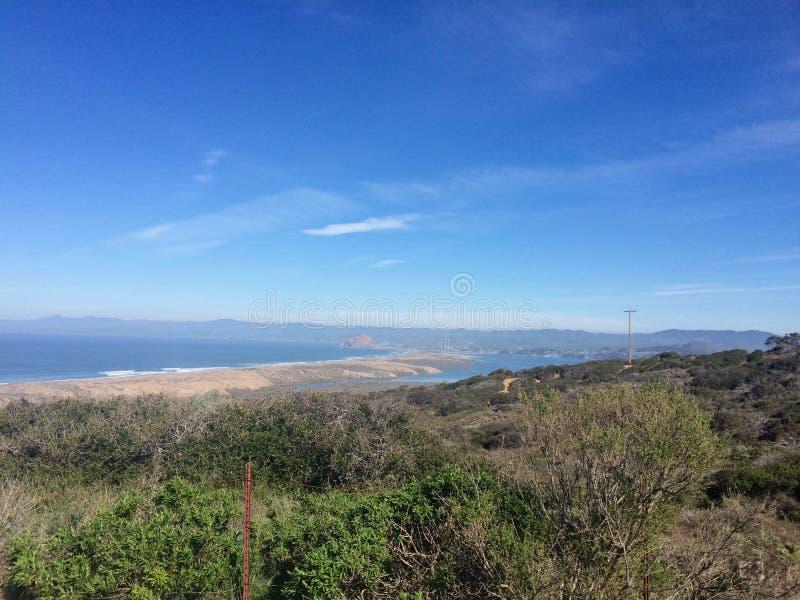 Zentrale Küstenschluchtansicht entlang einen Wanderweg lizenzfreie stockfotografie