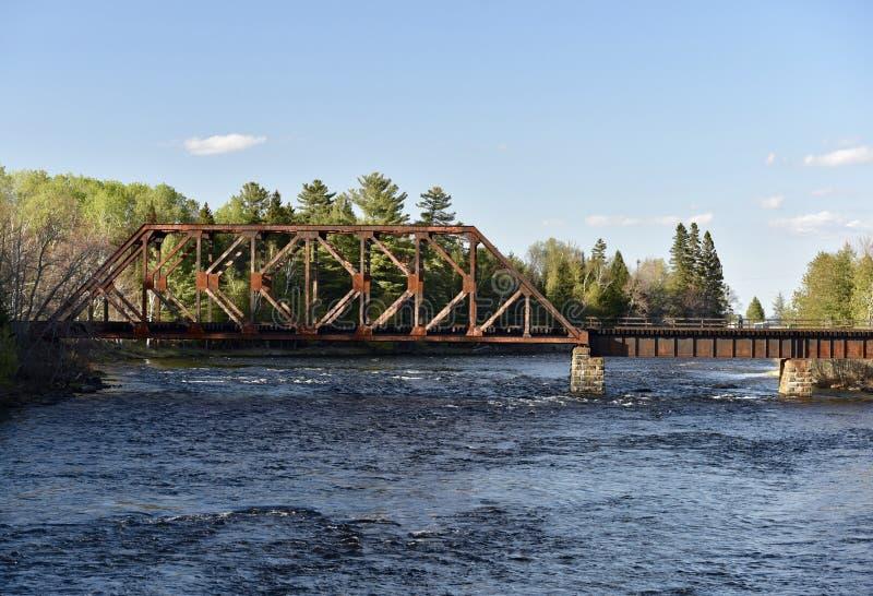 Zentrale Maine- u. Quebec-Eisenbahn-Brücke lizenzfreie stockfotos