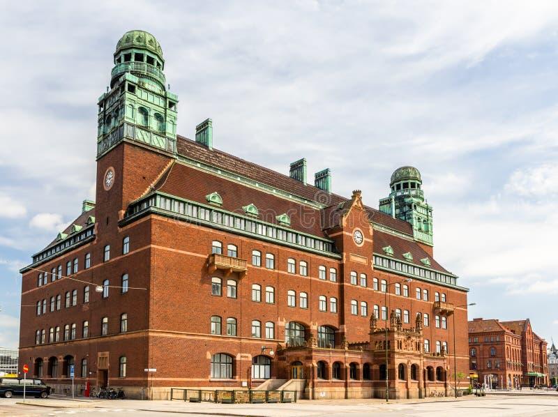 Zentrale Post von Malmö lizenzfreie stockfotos