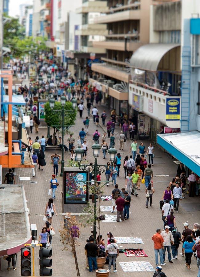 Zentrale San- Josecosta rica Avenida lizenzfreies stockfoto