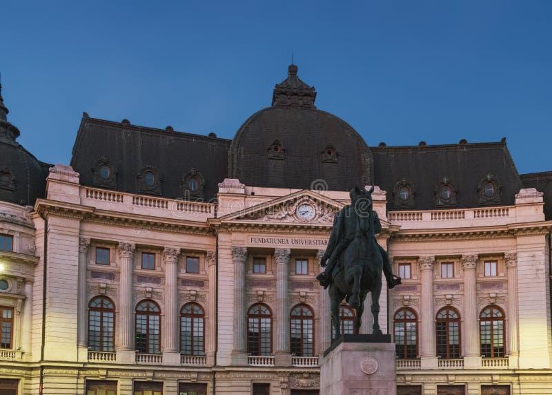 Zentrale Universitätsbibliothek in Bukarest, Rumänien stockbild