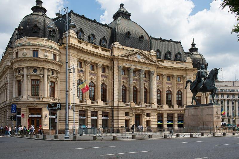 Zentrale Universitätsbibliothek von Bukarest Rumänien stockfoto
