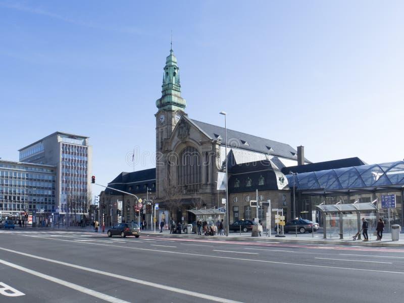 Zentraler Bahnhof in Luxemburg stockbilder