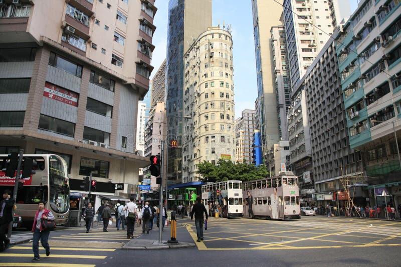 Zentraler Bezirk in HONG KONG stockbilder