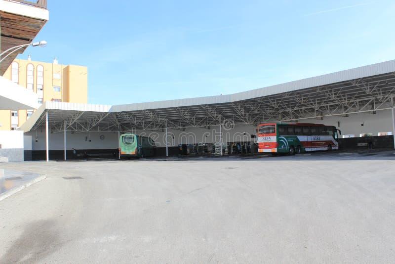 Zentraler Busbahnhof von Algesiras, Spanien lizenzfreies stockbild