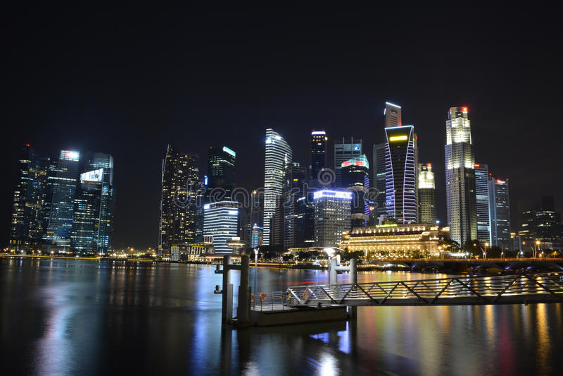 Zentraler Geschäftsbereich in Singapur stockbilder