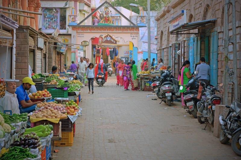 Zentraler Marktplatz in Bhuj, Indien lizenzfreies stockfoto