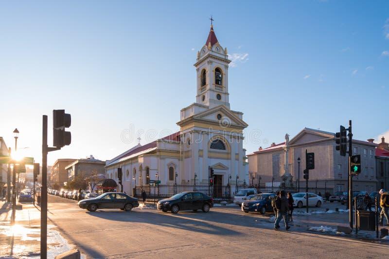 Zentraler Platz von Punta Arenas, Chile lizenzfreies stockfoto