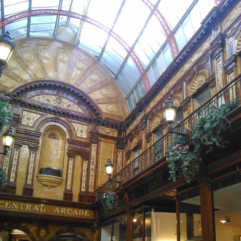 Zentraler Säulengang, Newcastle nach Tyne lizenzfreies stockbild