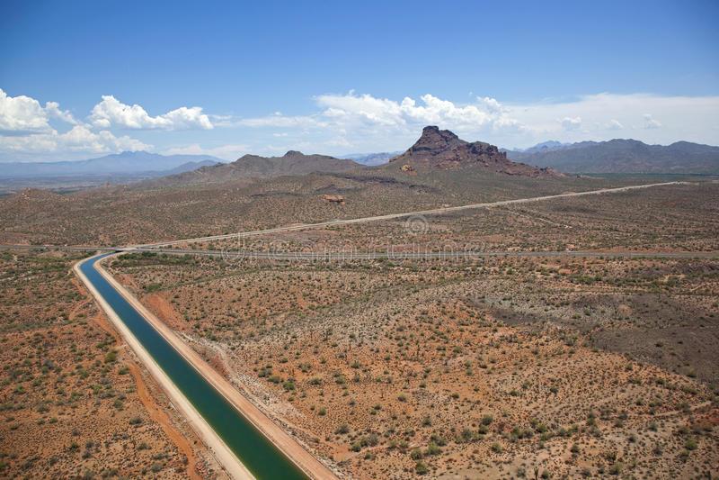 Zentrales Arizona-Projekt nahe Scottsdale, Arizona lizenzfreies stockfoto