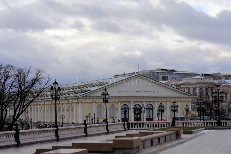 Zentrales Ausstellungs-Hall-` Manezh-`, Russland, Moskau, Manege-Quadrat, 1 errichtend stockbilder