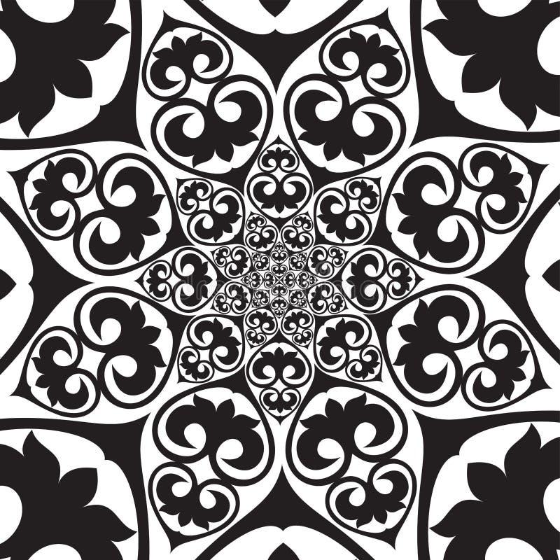 Zentrales endloses Kreismuster, asiatische Designe stock abbildung