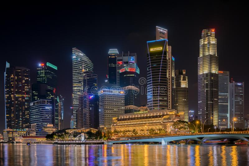 Zentrales Geschäftsgebiet Singapurs am 19. November 2016 stockfoto