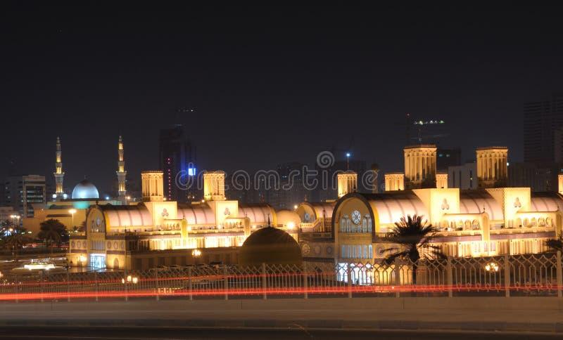 Zentrales Souq in der Scharjah-Stadt stockfotos
