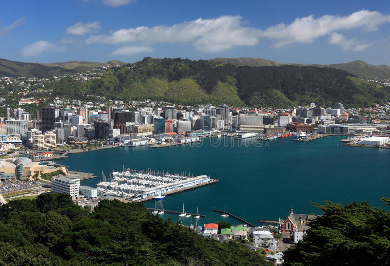 Zentrales Wellington lizenzfreie stockfotos