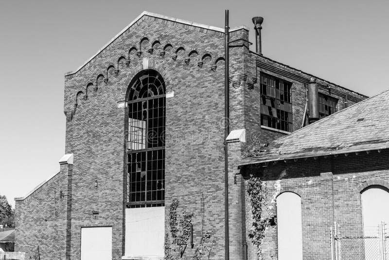 Zentralstaat-Krankenhaus, formal gekennzeichnet als zentrale Indiana Hospital für das geisteskranke - Kraftwerk, errichtet im Jah stockbilder