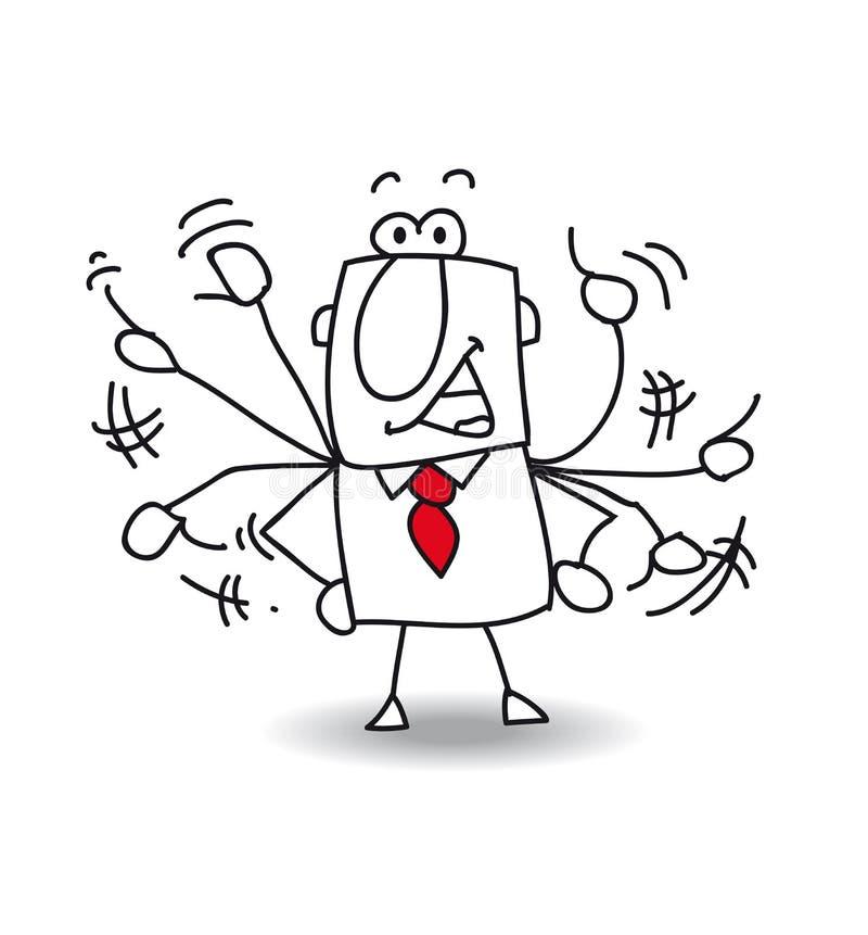 Zenuwachtige mens vector illustratie