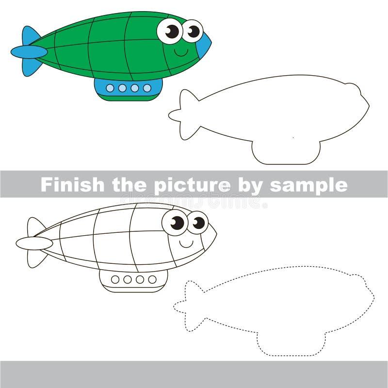 Zepelín verde Hoja de trabajo del dibujo ilustración del vector