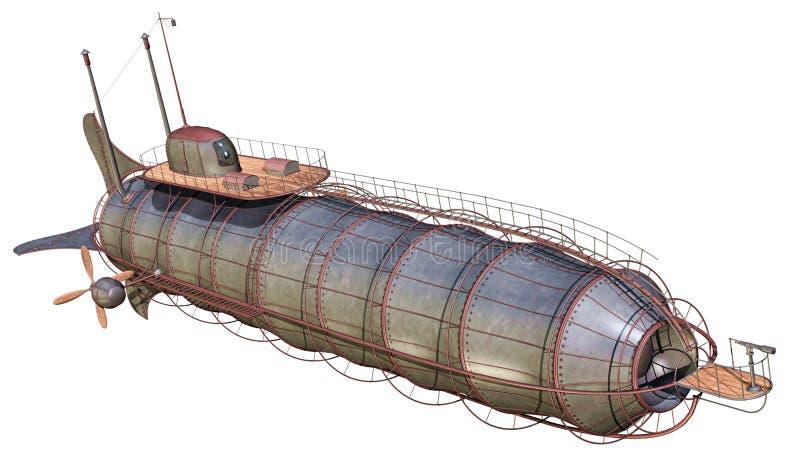 Zepelim de aço ilustração stock