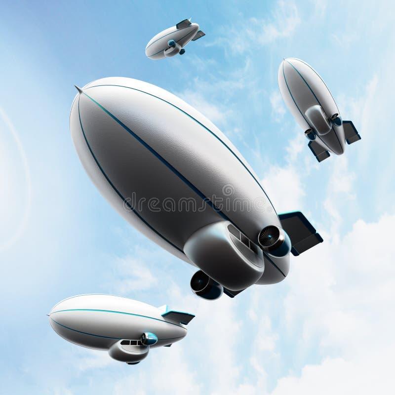 zeppelin lizenzfreie stockfotos