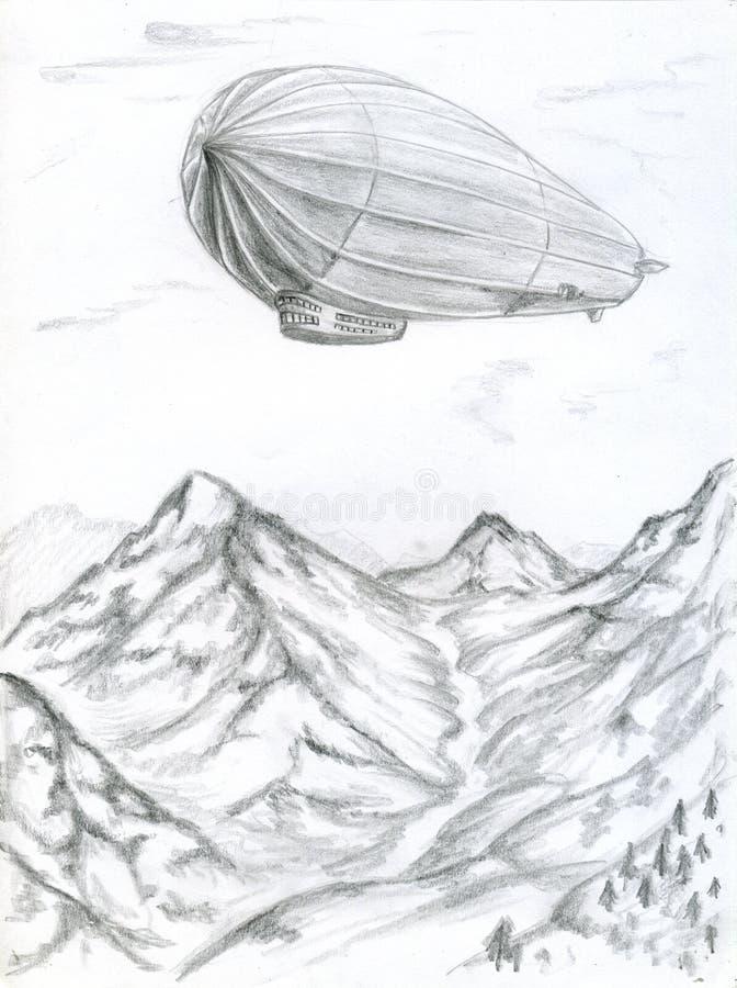 Zeppelin royalty illustrazione gratis