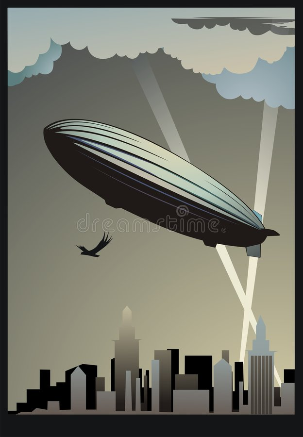 Zeppelin stock illustratie