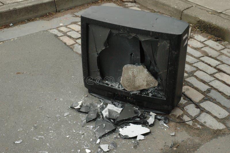 zepsuty telewizor zdjęcie stock