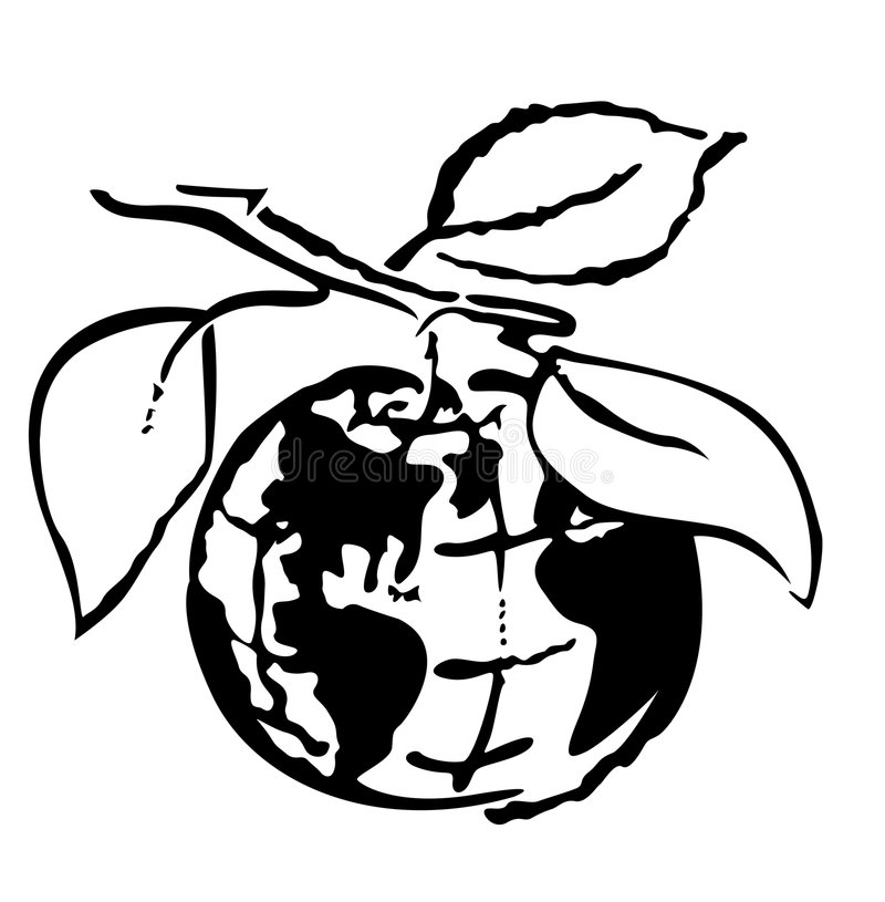 Zerbrechliche Welt lizenzfreie abbildung