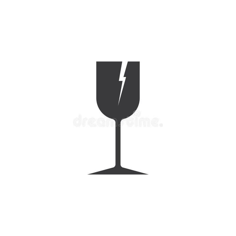 Zerbrechliches Glas vektor abbildung
