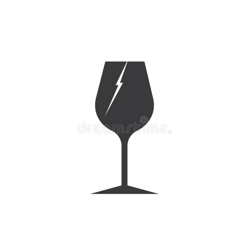 Zerbrechliches Glas lizenzfreie abbildung