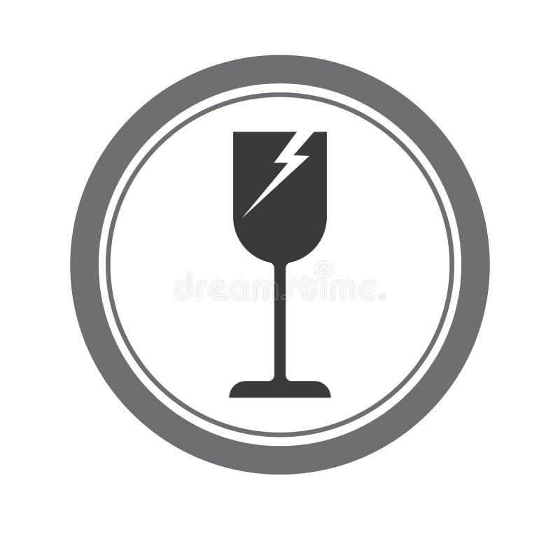 Zerbrechliches Glas stock abbildung